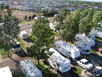 RV parking and camping area